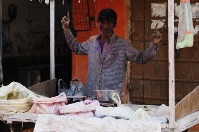 Продавец красок в Пушкаре