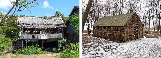 В деревнях архитектура отличается немного, но очень немного