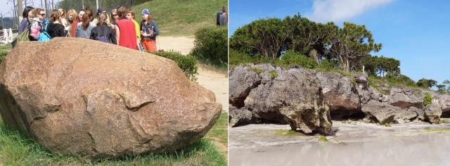 У них скалы всяких причудливых форм (справа), так и у нас камней с причудами хватает (слева)