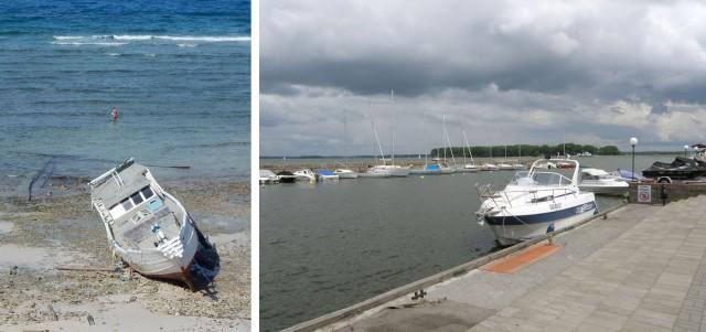 Их лодка и наши лодки