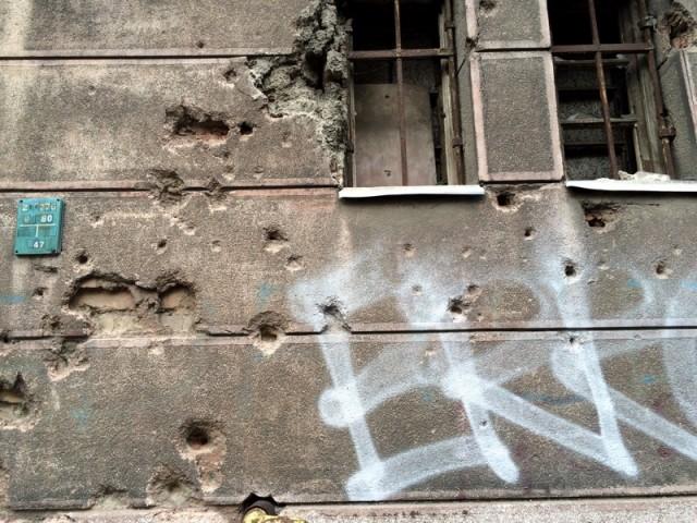 Сараево. Следы от пуль