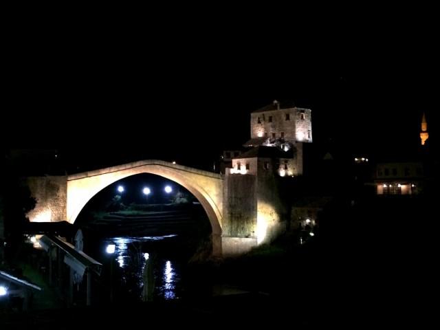 Мостар ночной