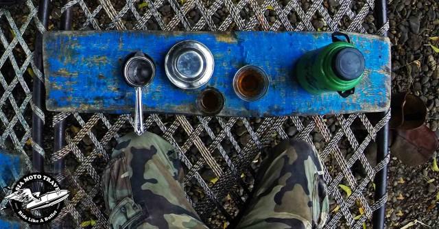 Dhaba style tea ceremony.