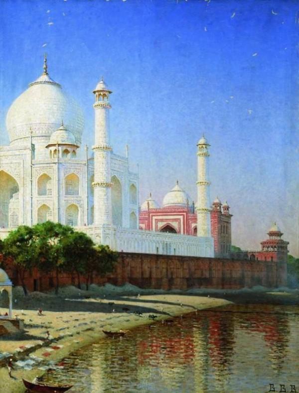 Мавзолей Тадж Махал. 1874