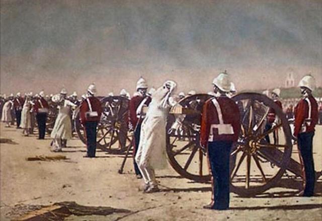 Подавление индийского восстания англичанами. 1884