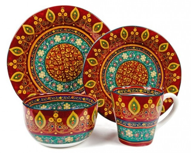 """Коллекция посуды """"Кашмир"""" (Utana), Индонезия. В 2015 году продавалась в Москве отдельными предметами почти везде, даже в Ашане"""