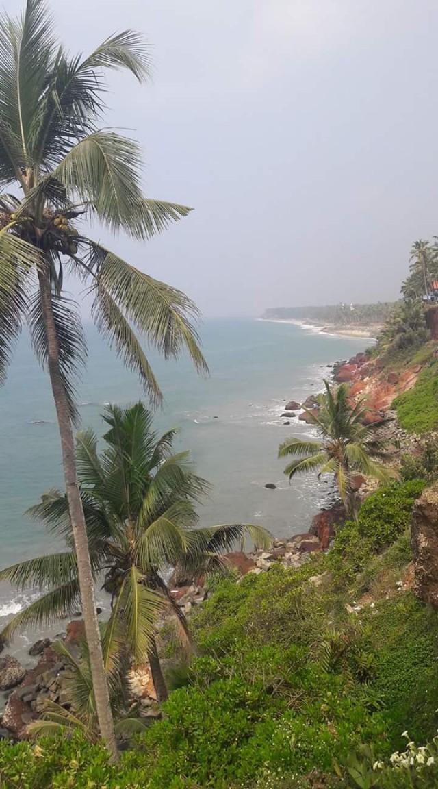 Вид на Black sand beach