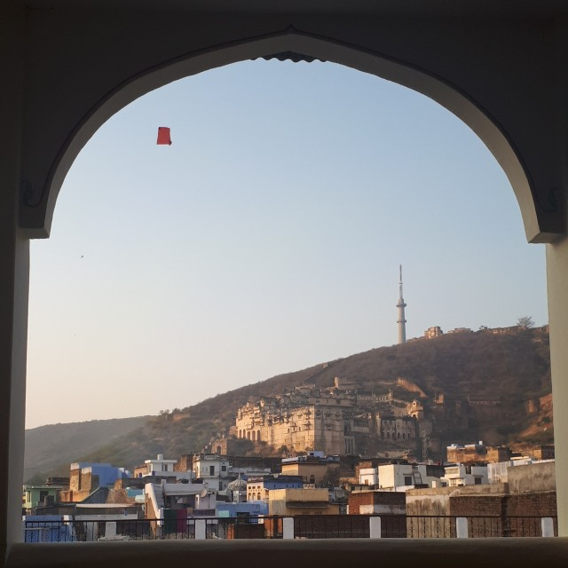 Вид на форт из ресторана Dev Niwas