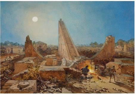 William Simpson, watercolour on paper, India, 1864.