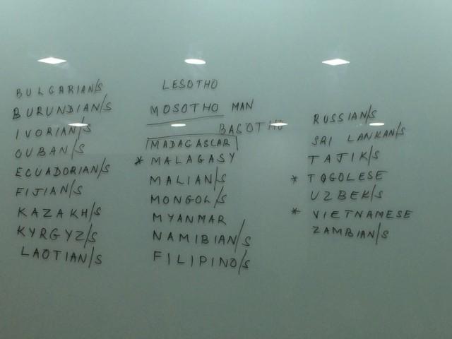 Вот сколько национальностей в нашей группе