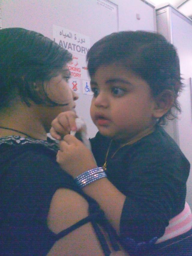 Ребенок, похожий на Кришну