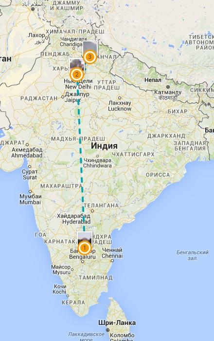 Амритапури-Бангалор-Путтапарти