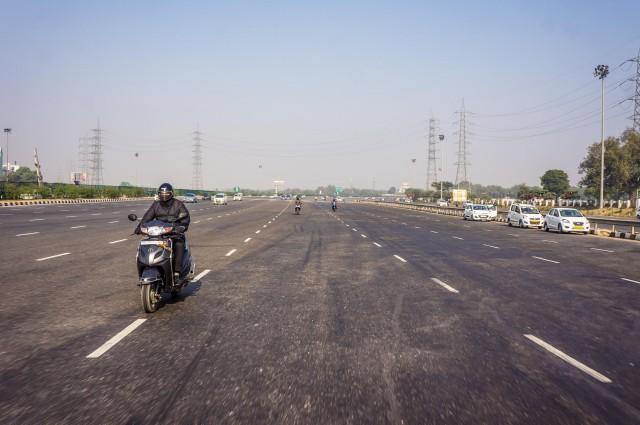 отрезок 24 полосного шоссе на Джайпур