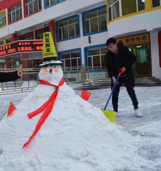 Снеговик-разметка
