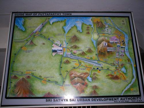 Карта-схема Путтапарти.