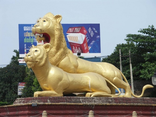 Монумент Львы - один из символов Сиануквилля