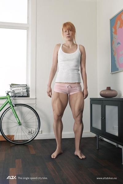Реклама велосипедов.