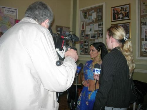 Интервью для телевидения:)