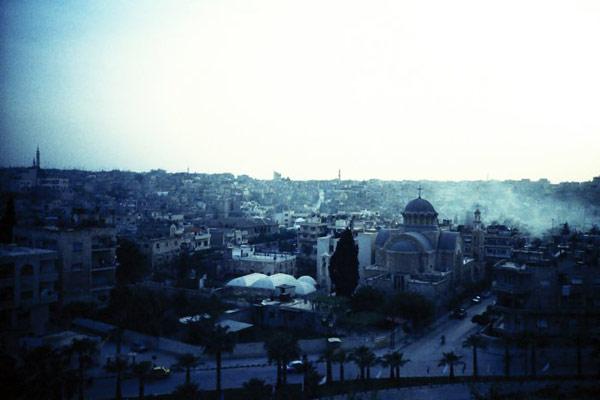 Хама, вид с горы посреди города