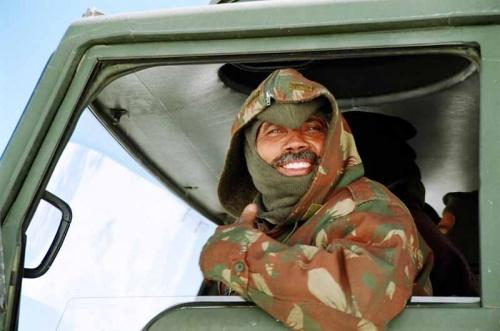 Радостный солдат