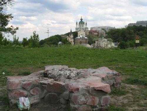 Новое капище Дажбога на Замковой горе