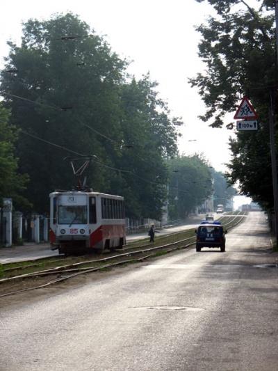 Утро в Ярославле. Улицы пустынны