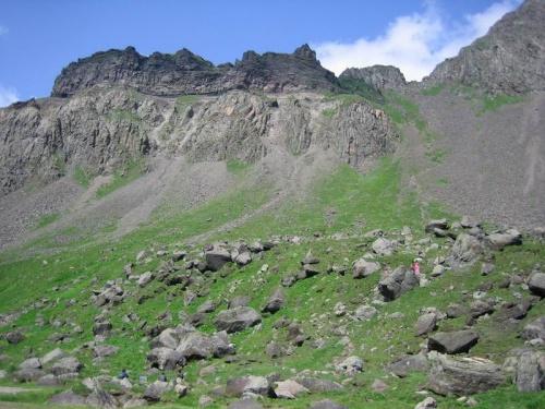 склоны кратера