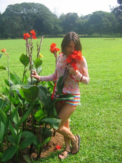 Перадения. Ботанический сад. Почти гладиолусы и я.