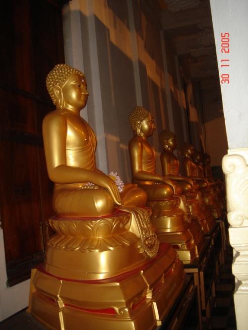 "Канди. Храм ""Зуба Будды"". Будды в ряд."