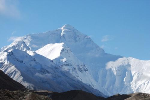 северная стена Эвереста через несколько часов