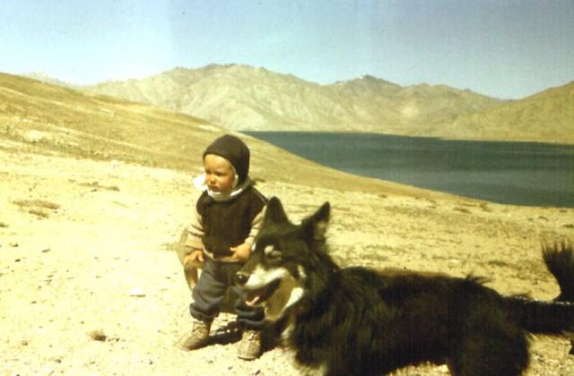 Личное)) Мой годовалый сын на Яшелькуле,  1992 год.