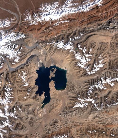 Космоснимок Озера Каракуль