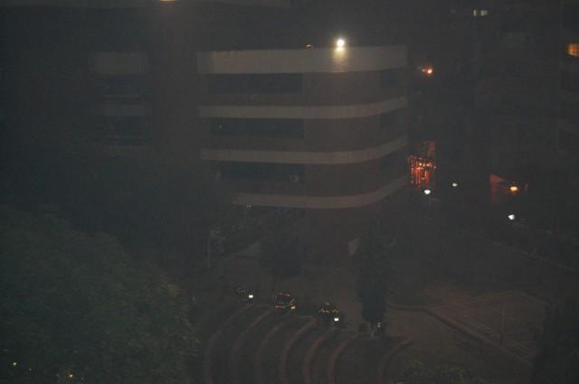 Институт в огнях. Вид с крыши