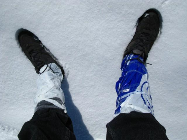 Бюджетный вариант горных ботинок :)