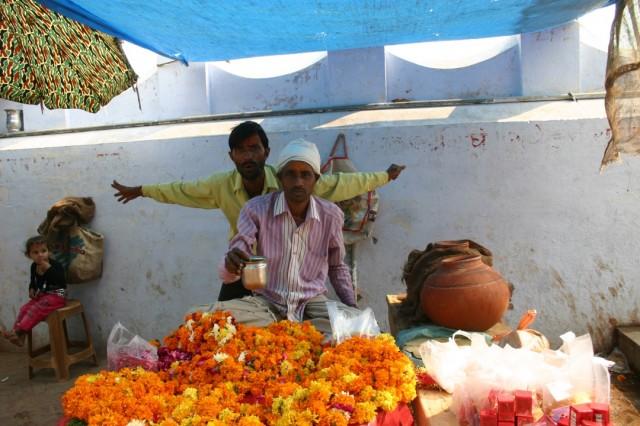 Продавец цветов с Варшаны