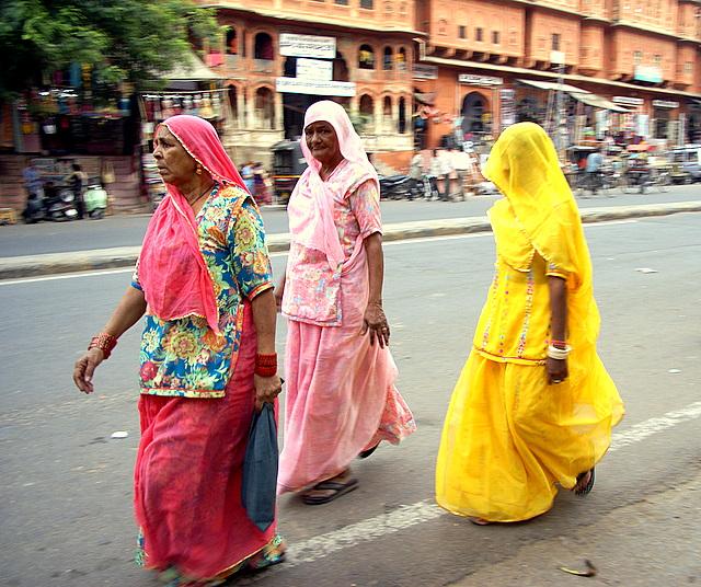 Сари в Джайпуре отличается от классического