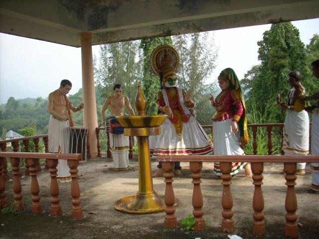 Композиция в стиле театра танца катхакали