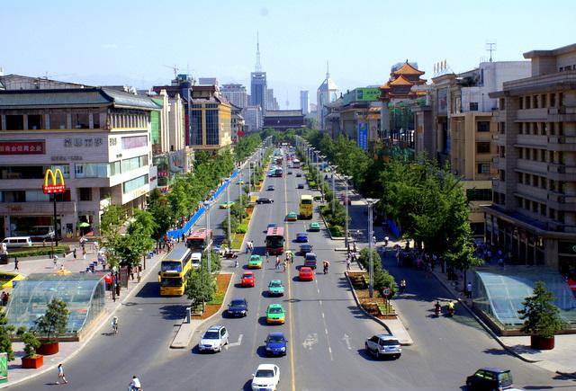 Геометрически правильные улицы Сианя