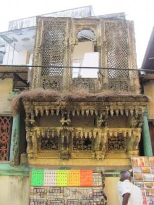 Старинный сохранившийся балкон