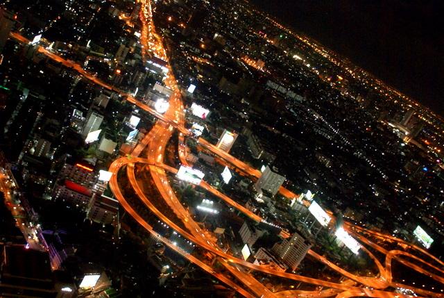 Вид на ночной Бангкок сверху