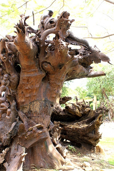 Деревянные скульптуры можно рассматривать бесконечно