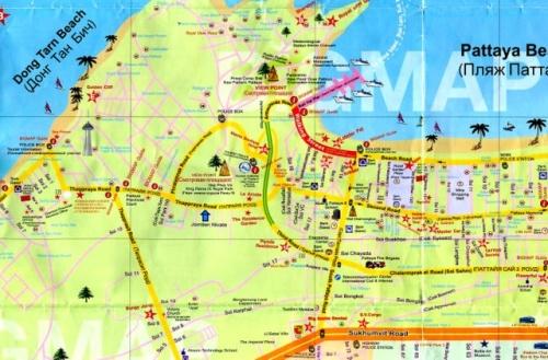 Карта Южной Паттайи