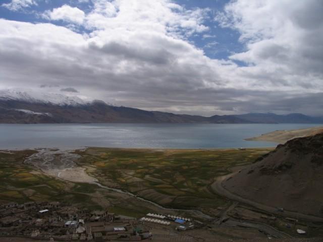Вид на деревню Корзок сверху