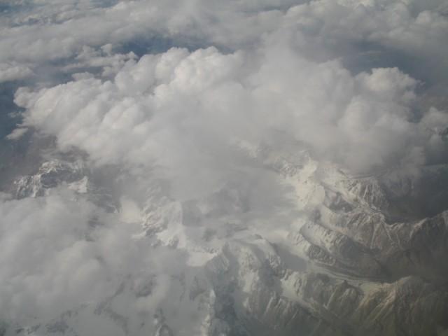 Тибет с высоты птичьего полёта.