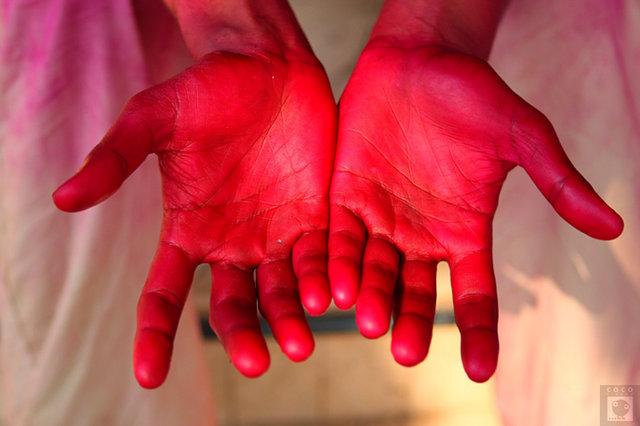 Hands. After Happy Holly. Mumbai.