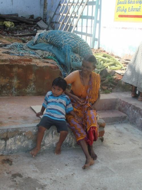 семья рыбака в Каньякумари
