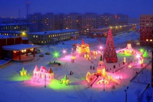 ледовый городок прошлых годов