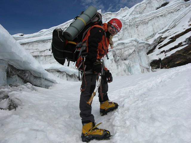 В ледопаде Ампхулабса