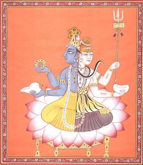 Синяя половинка -Вишну , белая -Шива )