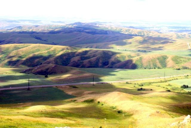 Большая часть Восточного Казахстана - горы